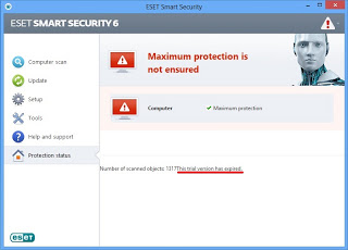 Cara Crack ESET Smart Security 6 dan ESET NOD32 Antivirus 6
