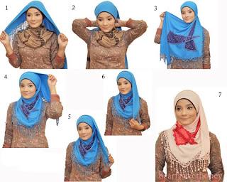 MODEL Cara Memakai Jilbab Terbaru