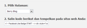 Cara Terbaru Fans Page Like Box FB di Blog