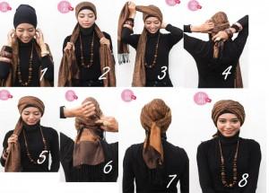 Cara Memakai Jilbab Modern 2013