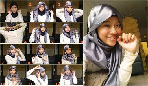 empat cara pasang jilbab pasmina memakai jilbab segi empat nah kali