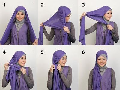 Cara Memakai Jilbab Kreasi cantik