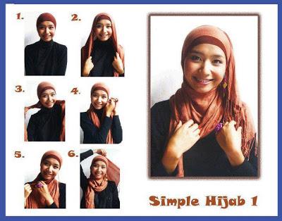 Memakai Jilbab Kreasi Anggun