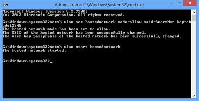 Membuat Hotspot Dari Laptop Windows 8 Tanpa Software