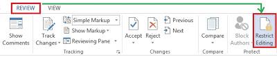 Cara Proteksi Dokumen Microsoft Office Word 2013
